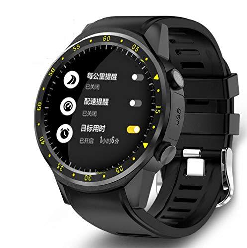 Boyuan F1 GPS Sport Smart Watch mit Kamera Höhenmesser Unterstützung Herzfrequenz SIM Karte Smartwatch Armbanduhr für IOS Android Phone,Schwarz