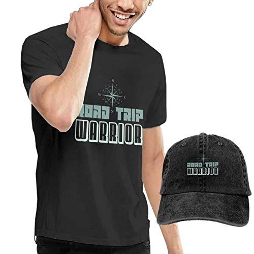 YNICKO Road Trip Warrior T-Shirts Short Sleeve Denim Hat Mens