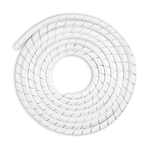 AGPTEK Kabelschlauch 4-50mm(6m), 6-60mm(4m), Organizer Kabelkanal Kabelhülle Schutz, insgesamt 10m, Weiß