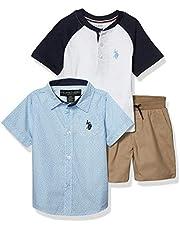 U.S. POLO ASSN. Short Sleeve Shirt, Tank and Short Set