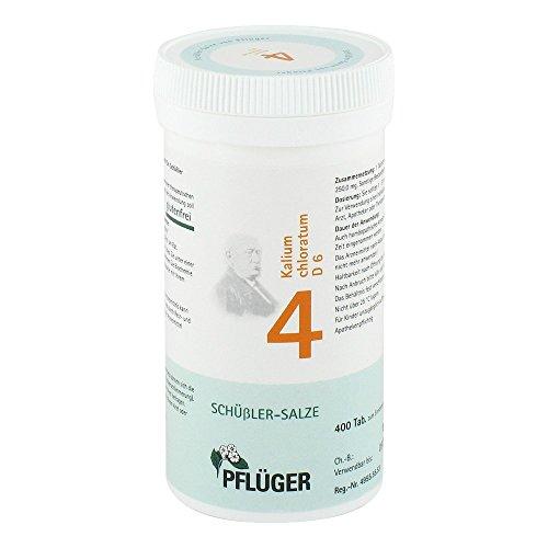 Pflüger Schüßler-Salz 4 Kalium chloratum D6, 400 St. Tabletten