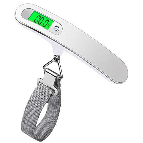 AeeYui Bilancia Digitale Pesa Bagaglio Valigie 50kg/110lb e Funzione Tara LCD Display,Sensore ad...