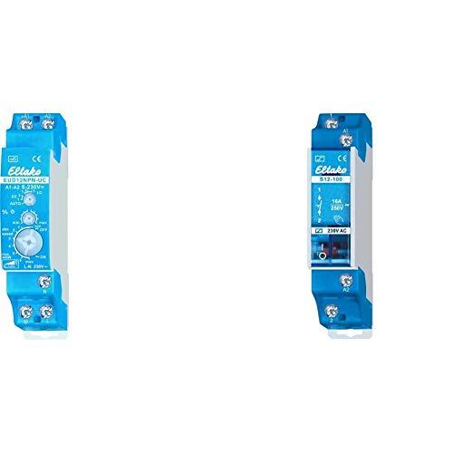 Eltako EUD12NPN-UC Universal-Dimmschalter & S12-100-230V Elektromechanische Stromstoßschalter