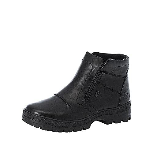 Rieker Herren F5463 Mode-Stiefel, schwarz, 42 EU