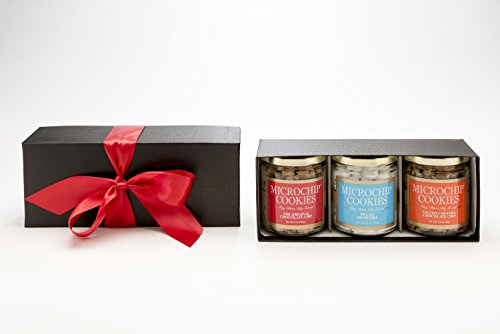 World's Tiniest, Most Irresistible Microchip Cookies - A Triple Sweet Gift - Triple Gift Box - Be The Party Favorite & Give The Gift Of Gourmet Microchips -Small Batch Handmade In Texas