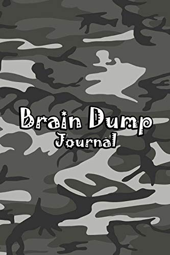 Brain Dump Journal: Template Worksheet Notebook With Prompts To Stop Stressing To Help You Clear Your Mind & Head Of Thoughts By Make Notes in Book | Dark Camo Cover
