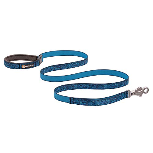 RUFFWEAR, Flat Out Dog Leash, Adjustable Lead with Padded Handle, Oceanic Distortion