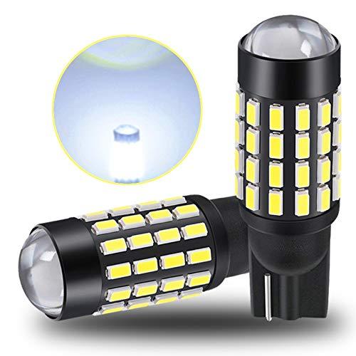 Luces de matrícula de Coche 2 unids LED T10 W5W CANBUS Bulb 168 194 Ningún Error Super Bright Light Light Light Signal Lámina Lámpara de Lectura Auto 12V Blanco Universal (Emitting Color : White)