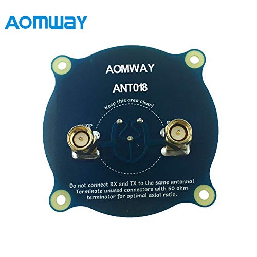 Parts & Accessories Original Aomway ANT018 Triple Feed Patch-1 5.8G 8dBi RHCP/LHCP FPV Pagoda Antenna SMA/RP-SMA Male for RC Transmitter Goggles - (Color: RPSMA Male)
