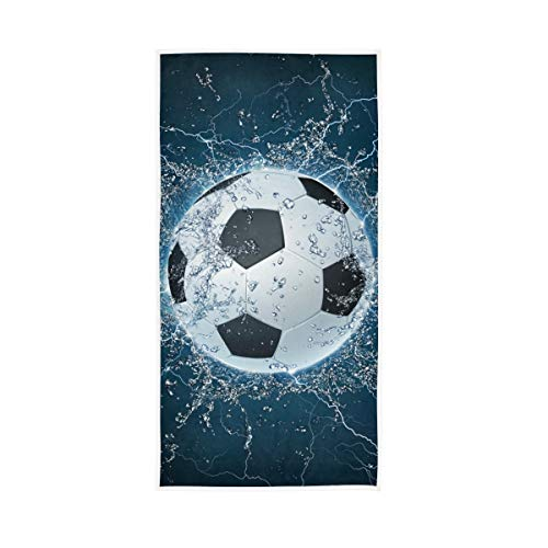 BKEOY Toalla baño 3D Pelota fútbol Toalla Mano Toalla