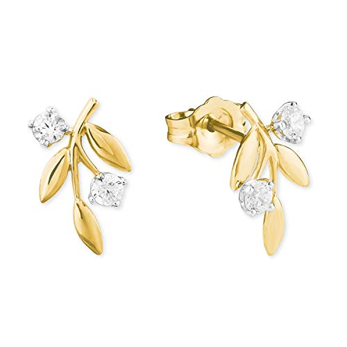 amor Ohrstecker für Damen aus Gold 585/14 ct