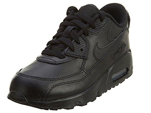 Nike Jungen AIR MAX 90 LTR (PS) Traillaufschuhe, Schwarz (Black/Black 001), 32 EU