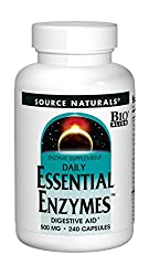 commercial Source Naturals Essential Enzymes 500 mg Multi-enzyme dietary supplement, herbal protection… digestive enzyme supplement