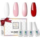 RSTYLE Esmaltes Permanentes, 4 Colores 5ml Pintauñas Esmaltes Semipermanente Para Uñas Kit...