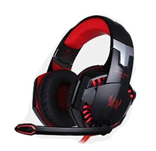 Headset 3.5MM USB Light-emitting computer game headset wired headphones G2000 Black Red