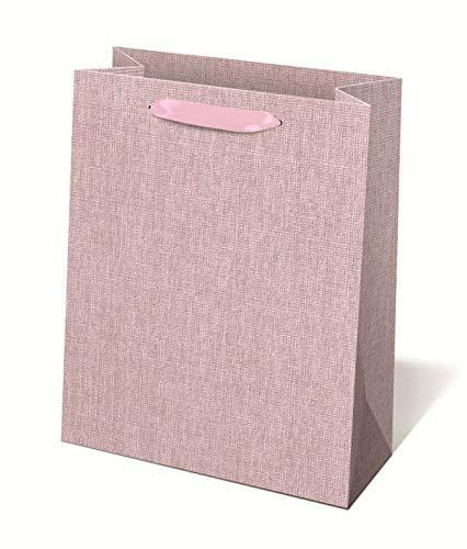 Idena 30240 - Geschenktasche Pink, 25 x 8,5 x 34,5 cm, Tragetasche, Geschenkverpackung, Geschenktüte
