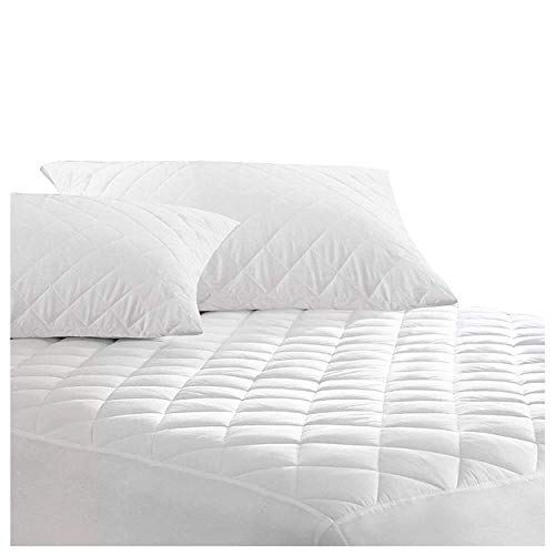 Comfortos Mattress Protector Waterproof for 4ft Small Double King Quilted Cover Diamond 30cm Deep Non-Allergenic fabric Silentnight mattress protector (Pillowcase Pair)