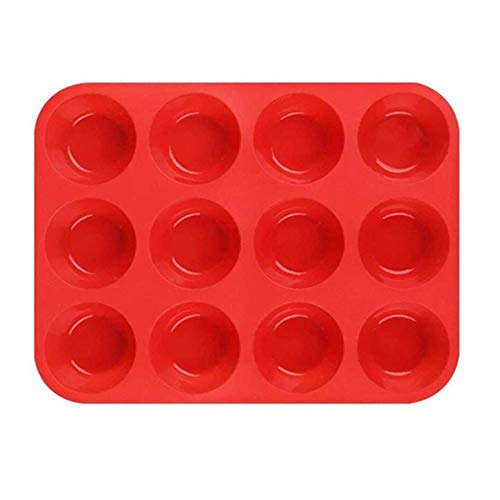 Silicone Muffin Trays for 12 Muffins Non-Stick Muffin Cupcake Tin, Baking Mould for Muffins or Cupcakes Bakeware