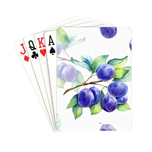 UGDFJYV Playing Card Games Beautiful Natural Fresh Blueberries Poker Deck of Cards Unique for Kids & Adults Card Decks Games Standard Size