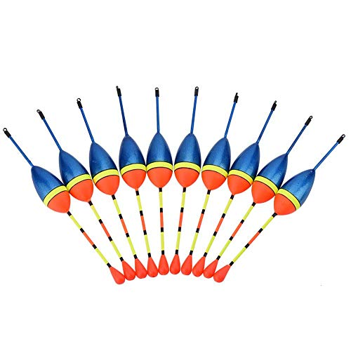 Qiter Angelschwimmer, 10 Stück/Set Karpfen Angelschwimmer Bobbers Haken Süßwasser Salzwasser Schwimmgerät