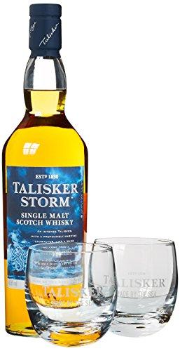 Talisker Storm Whisky mit Geschenkverpackung mit 2 Gläsern   (1 x 0.7 l)
