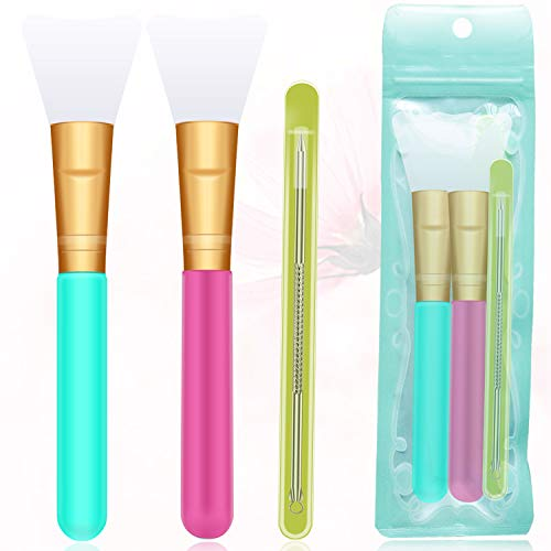 3 PCS Silicone makeup brush set, Face Mask Brush,Soft Silicone Mask Beauty Tool Facial Mud Mask Applicator Brush for skincare Hairless Body Lotion Applicator Tools