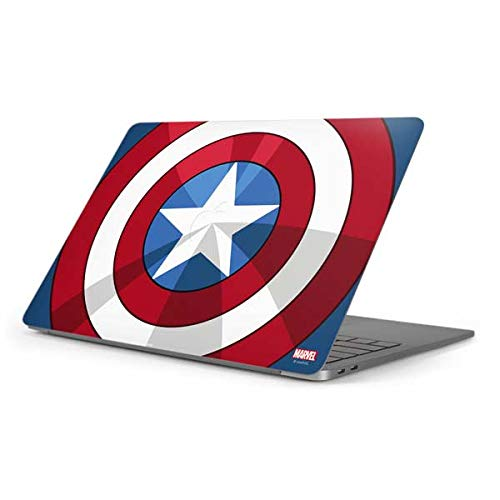 Skinit Decal Laptop Skin for MacBook Pro 16in (2019-20) - Officially Licensed Marvel/Disney Captain America Emblem Design
