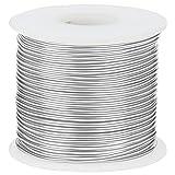 Filo Alluminio per Bigiotteria - Filo Alluminio 2mm Calibro 12 Filo di Ferro Modellabile Color Argento 30m - Fil di Ferro Modellabile per Creazione, Scultura, Fiori, Modellazione, Gioielli e Fai-da-Te