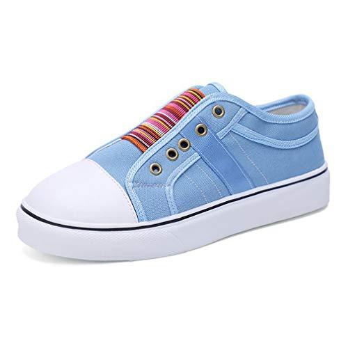 Mujer Zapatos Deportivos Casual Zapatos Plano Moda Empalme Zapatos de Lona Respirable Zapatos para Correr Primavera Verano Mocasines Zapatillas