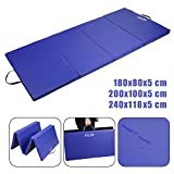 CCLIFE 4-Folding 6ft 5 cm(2in) thickness Gymnastics Mats Gym Exercise Workout Fitness Foam