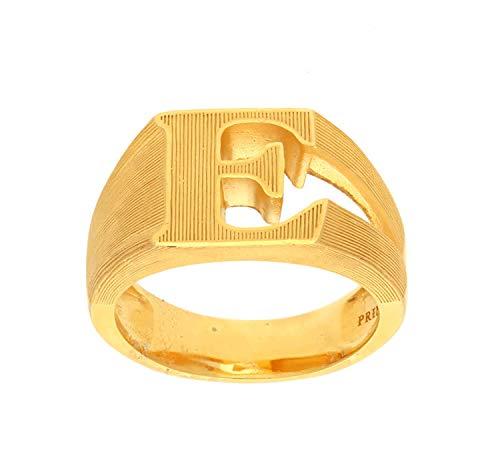 PRIMAGOLD(プリマゴールド) 24K Mens 純金 イニシャルE リング(アルファベット) 24金 純金 K24YGメンズ 男性用 ゴールド (17.5)
