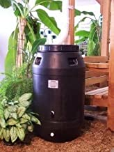 Aunt Molly's 60 Gallon Black Plastic Rain Barrel