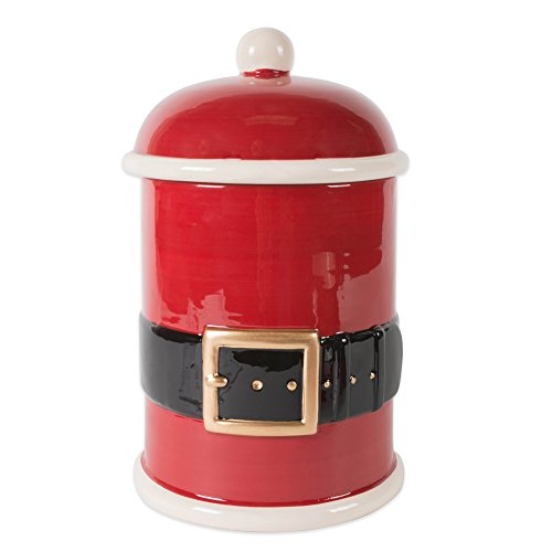 DII Christmas Ceramic Pet Treat Storage Lid, 6' x 10', Food Canister