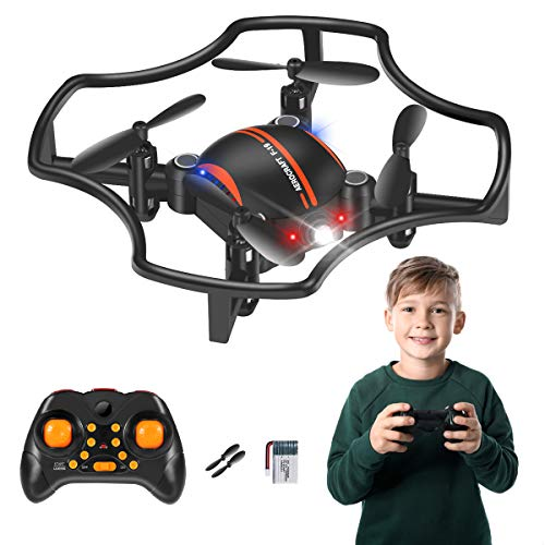 RC Drone for Kids, Mini Drone RC Quadcopter Drone for Kids and Beginners RC Helicopter Plane with Auto Hovering, 3D Flip, Headless Mode and Extra Batteries Toys for Boys and Girls