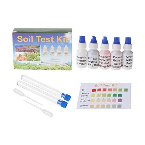 Medidor de pH de suelo, solución de fósforo N1, nitrato P1, potasio, K1 K2, kit de herramientas de jardinería para el cuidado de las plantas