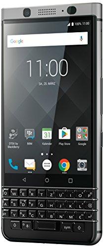 BlackBerry KEYone Business Smartphone (32GB interner Speicher, 3GB RAM, LTE, 12MP Kamera, 11,43 cm (4,5 Zoll IPS LCD Bildschirm)) silber
