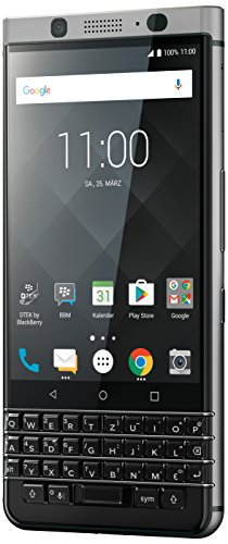 BlackBerry KEYone Business Smartphone (32GB interner Speicher, 3GB RAM, LTE, 12MP Kamera, 11,43 cm (4,5 Zoll IPS LCD Display)) silber