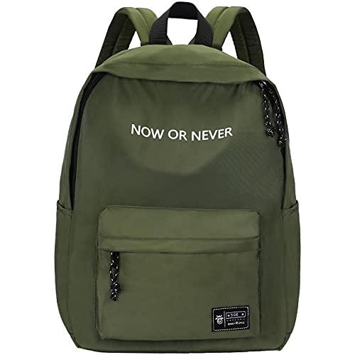 XZJY Mochila de moda para hombres y mujeres, mochila antirrobo, mochila escolar, mochila para adolescentes, niñas, mochila escolar para mujer-Army_green
