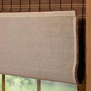 Blinds Emporium Of GA Bamboo Roman Shade and Roller Shade Privacy Liner
