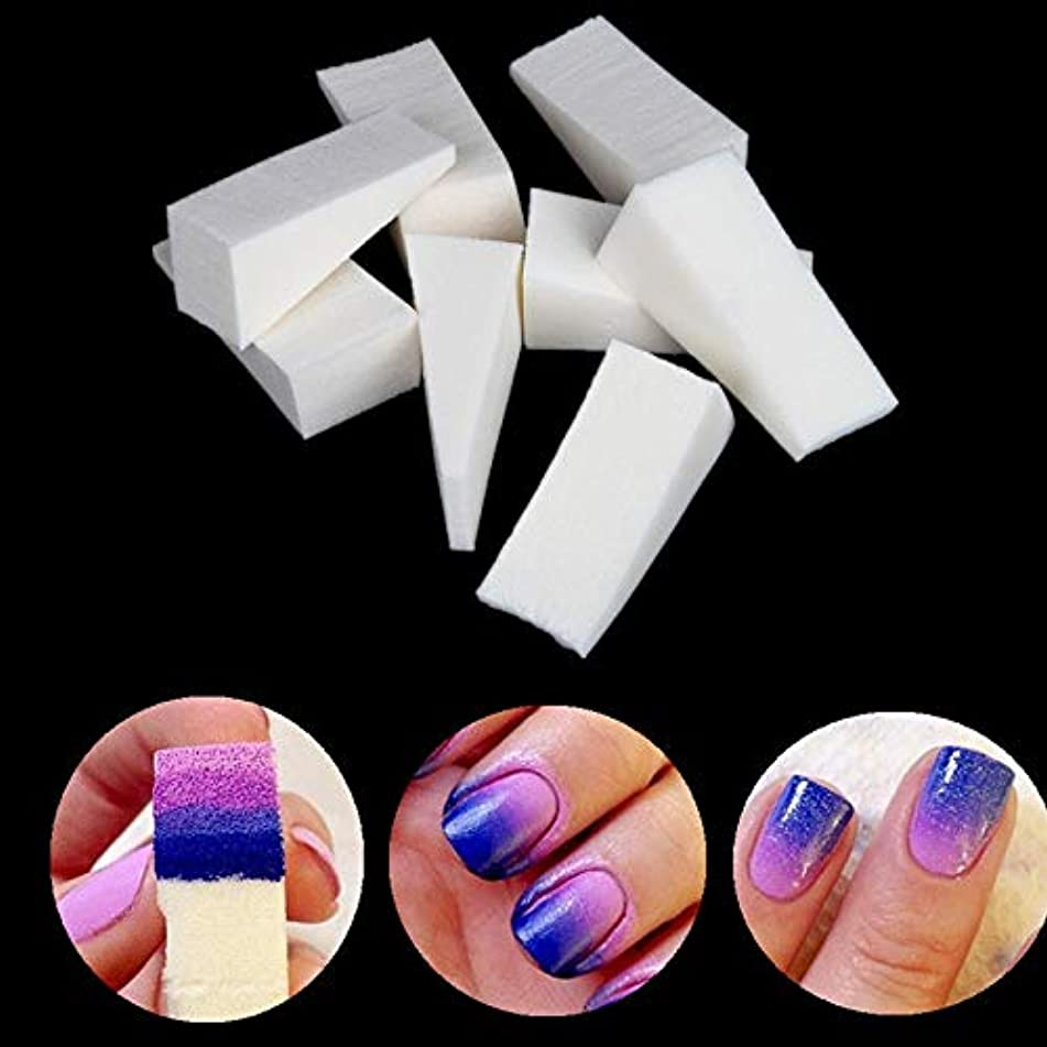 For Nail Set - 8pcs New Woman Salon Nail Sponges Stamp Stamping Polish Transfer Tool Diy For Acrylic Colors Gel Manicure Accessory