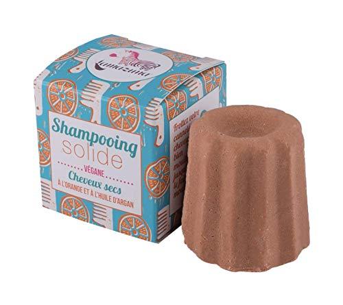 Lamazuna Solid Orange Shampoo für trockenes Haar, 1er Pack (1 x 55 g)