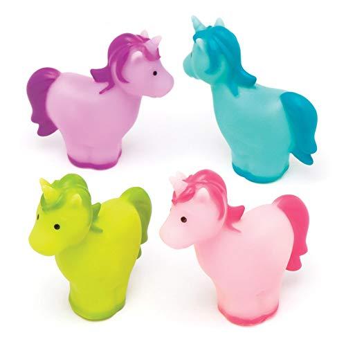 Baker Ross Einhorn-Fingerpuppen für Kinder (8er-Pack) Farbiges Tierfingerspielzeug für Kinder. Perfekt für Bastelarbeiten im Klassenzimmer, Regentage, Kunsthandwerk oder Vereine.