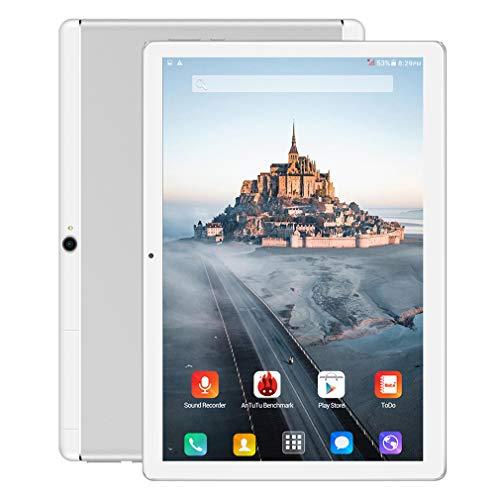 Android Tablet 10 Zoll, 5G Wi-Fi Android 9.0 Entsperrt Tablet PC , 3G Telefon-Unterstützung, Octa Core-Prozessor, 4GB RAM 64GB, 5000 mah, Dual-Kamera, WiFi, Bluetooth, GPS , U2 (Silber)