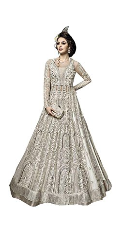 Muslimischen Anarkali Salwar Kameez Indian Neue Brautkleid Frauen Kleid Hijab Anzug Party Tragen Kleid Indowestern Kaftaan Hijab 523 (3) (Europe Size 40)