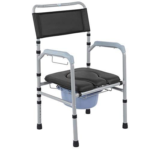 Klappbarer Toilettenkommoden-Toilettenstuhl, Multifunktionaler Rehabilitationsstuhl Für Medizinische Hilfe, Höhenverstellbarer Nachttisch, Toiletten-Duschstuhl Für Ältere Menschen Und Behinderte