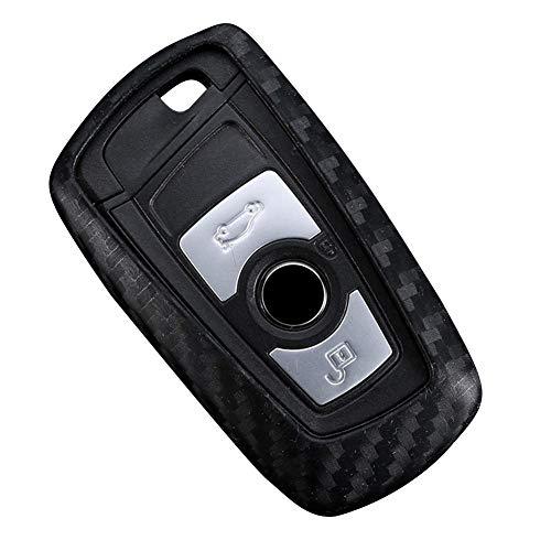 applyvt Copri Chiave in Fibra di Carbonio per BMW F10 F20 F30 Nuovo 1 3 4 5 6 7 Serie X3 X4 320I 116I 118I 328I 530I E46 E39 E90 E36 E60 E34 E30 Car Key Cover Protezione Caso Chiave Auto