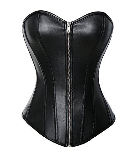 MISS MOLY Mujeres Corsé Corset Cuero Bustiers Fajas Cintura Cincher y G-String