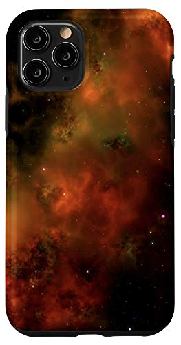 iPhone 11 Pro galaxy universe milkyway stars sky colors red yellow orange Case