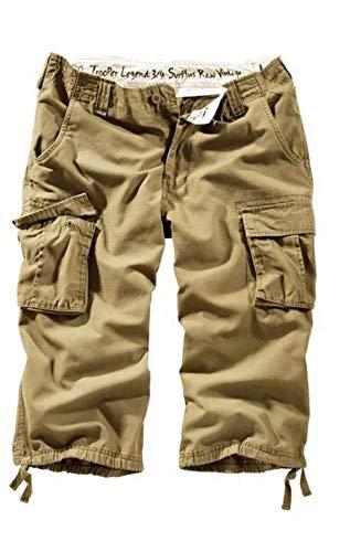 Surplus Army Combat Cargo Hombres Pantaloncini Cotone Vintage Lavato 3 Colori De