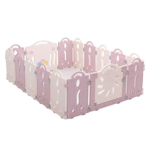 Review Playpen Kids Baby Playpen with Activity Panels, Plastic Infant Fence Foldable Compact Play Ar...